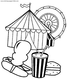 Circus Printables | Circus & Clowns color page - Coloring pages for kids - Miscellaneous ...