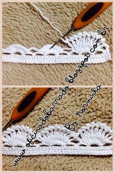 Crochet snowflakes Christmas decorations set of 6 crochet Crochet Border Patterns, Crochet Boarders, Crochet Lace Edging, Crochet Motifs, Love Crochet, Thread Crochet, Crochet Trim, Crochet Designs, Diy Crafts Crochet
