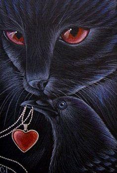 """""""Black Cat - Raven/Crow - Friends"""" par Cyra R. Cancel"""