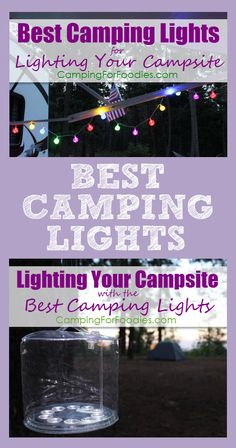 Lighting Your Campsite With The Best Camping Lights! Light pollution is a problem in many urban areas. Getting away to experience natural darkness in the wilderness is awesome BUT you still need to see. Properly lighting your campsite keeps things safe and fun. The best camping lights include solar powered, battery powered, string lights and more! These are so awesome, they even make great gifts for the camping enthusiasts in your life!