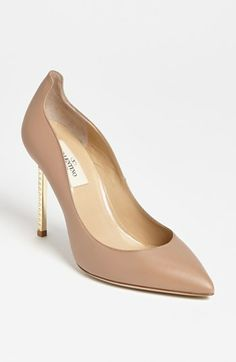 Love! Valentino Studded Stiletto Metal Heel Pump available at #Nordstrom