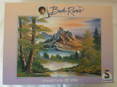 "Bob Ross ""Mountain Splendor"" Schmidt Puzzle - 1500 pieces - 100% Complete Bob Ross Art, Puzzles, Mountain, Painting, Ebay, Vintage, Kunst, Puzzle"