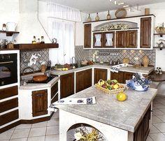 Composizione cucina - nicchia con fiori