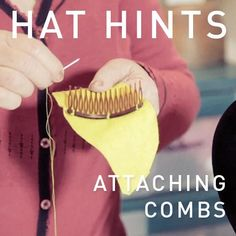 Attaching a comb securely to your fascinator or headpiece is vital. There is nothing more embarrassing than a dislodged comb resulting in a unhappy client. Millinery Hats, Fascinator Hats, Fascinators, Headpieces, Colored Skinny Jeans, Hat Tutorial, Diy Hat, Wedding Hats, Love Hat