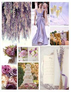 Ideas de decoración de bodas en tonos lavanda