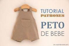 DIY Tutoriales de ropa de bebe: PETO