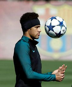 Neymar during a training session ahead of the UEFA Champions League Round of 16 second leg match between FC Barcelona and Paris Saint-Germain at Ciutat Esportiva Joan Gamper training ground on March. Infp, Neymar Jr, Uefa Champions League, Club, Fc Barcelona, Soccer Ball, Kicks, March 7, Paris Saint