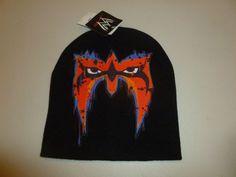 wwe wwf beanie Ultimate Warrior Knit Beanie Hat winter vtg retro