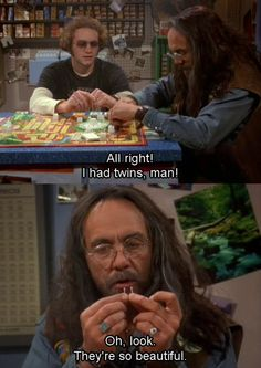 Leo and Hyde playing the game of Life.
