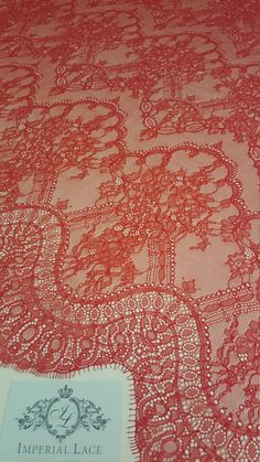 Red lace fabric Embroidered lace French Lace Wedding Lace
