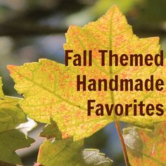 September is here, and that means we can finally break out the fall-themed ... well, everything! Come on, I can't be the only one who's excited about this, right? Today's roundup of Etsy favorites ...