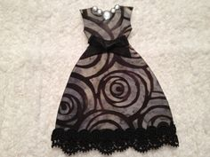 Party Dress, Scrapbooking, Fabric and Paper, Embellishment, Tag, Card Supply, Ornament, Decoration, Book Cover, Etc