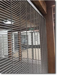 Gladstone PC architectural pre-crimped mesh decorative security screening at Antrim Golf Club, Northern Ireland. Security Screen, Gladstone, Wire Mesh, Northern Ireland, Screens, Golf Clubs, Blinds, Architecture, Projects
