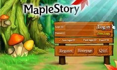 maple story login page