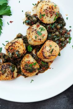 55 minutes · Gluten free · Serves 4 · Perfectly tender and tasty sous vide scallops enhanced with brown butter, capers, lemon, and fresh parsley along with their own juice. Serve as a main course or an appetizer. #sousvide #sousvidecooking #sousvidescallops Sweets Recipes, Lunch Recipes, Seafood Recipes, Crockpot Recipes, Salad Recipes, Chicken Recipes, Dinner Recipes, Healthy Gluten Free Recipes, Vegetarian Recipes
