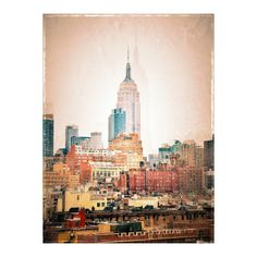 NYC Vintage style Art Print by Love2Snap Society6 ❤ liked on Polyvore