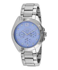 Another great find on #zulily! Blue & Silver Tristen Bracelet Watch #zulilyfinds