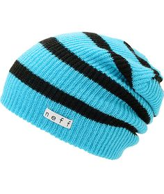 bad077db962 The Neff Daily slouch beanie is the ultimate in classic head wear. This  cyan blue