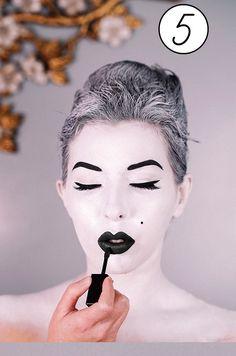 Mime Makeup, Female, Cute, Kawaii