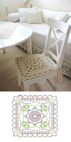 . Crochet Blocks, Granny Square Crochet Pattern, Crochet Diagram, Crochet Squares, Crochet Granny, Crochet Mandala, Crochet Motif, Crochet Designs, Crochet Doilies