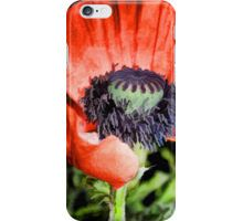 Big, Red Poppy Art iPhone Case/Skin