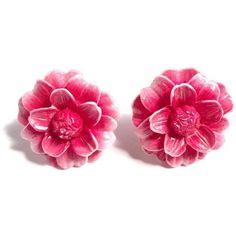 Dahlia Post Earrings Tarina Tarantino ($50) ❤ liked on Polyvore featuring jewelry, earrings, accessories, flower earrings, tarina tarantino, tarina tarantino earrings, post earrings and steel earrings