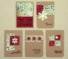 Schlichte Weihnachtskarten. (scrapperia)