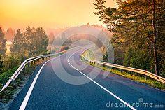 Road At Sunrise Stock Photo - Image: 59179366