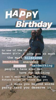 Happy Birthday Best Friend Quotes, Birthday Quotes For Best Friend, Birthday Wishes Funny, Birthday Captions Instagram, Birthday Post Instagram, Friends Instagram, Instagram Quotes, Creative Instagram Stories, Instagram Story Ideas