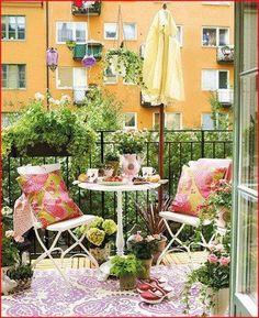Decoración balcones y terrazas pequeñas.