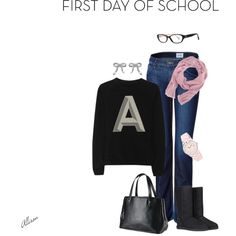 """""""First Day of School"""" by allisonbf on Polyvore"""