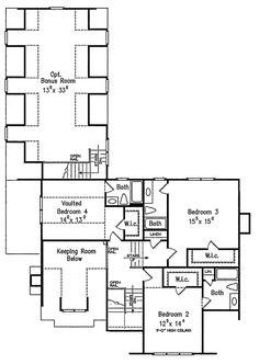 Craftsman Style House Plan - 4 Beds 5.5 Baths 3878 Sq/Ft Plan #927-5 Floor Plan - Upper Floor Plan - Houseplans.com