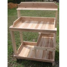 Wooden Pallet Furniture Potting Bench - the price is ridiculous but the design is great. Outdoor Furniture Plans, Diy Garden Furniture, Pallet Furniture, Furniture Ideas, Pallet Chair, Pallet Tables, Furniture Makeover, Dresser Makeovers, Furniture Buyers
