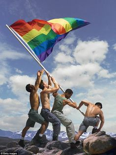 Today is the anniversary of the first appearance of the rainbow flag at a gay pride event. Gilbert Baker designed the flag which was used for the 1978 Gay Freedom Parade in—where else? Gay Pride, Pride Flag, Pride Rock, Rainbow Flag, Rainbow Pride, Rainbow Colors, Rainbow Gif, Rainbow Boys, Rainbow Images