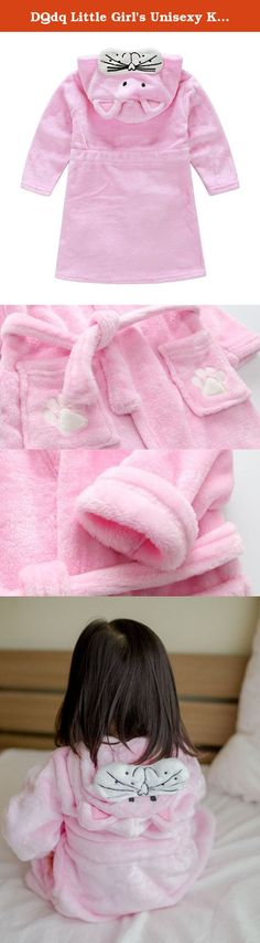 "DQdq Little Girl's Unisexy Kids Coral Fleece Bathrobe Robe Pink cat. DQdq Girl's Unisexy Kids Coral Fleece Bathrobe Robe Please kindly confirm the size and color before you purchae. Size 90; Chest: 62cm/ 24.43""; Sleeve Length: 64cm/ 25.22""; Shoulder: 26cm/ 10.24"";Clothes Length:54cm/ 21.28"".Suit for height 85-90CM Size 100; Chest: 66cm/ 26""; Sleeve Length: 66cm/ 26""; Shoulder: 29cm/ 11.43"";Clothes Length:56cm/ 22.06"".Suit for height 90-95CM Size 110; Chest: 68cm/ 26.79""; Sleeve Length…"