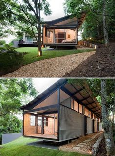 Get the (guide+plans) to build Shipping Container Home🛍. - Contains 4 Book Container House Plans, Container House Design, Small House Design, Modern House Design, Container Architecture, Architecture Design, Building Design, Building A House, Casas Containers