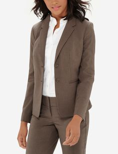 Collection 2-Button Jacket - The Limited Collection consistently uses the same shades and fabrics for all of our suiting pieces to encourage mixing and matching. Pair this jacket with our Collection skirts and pants to customize a suit that you love.