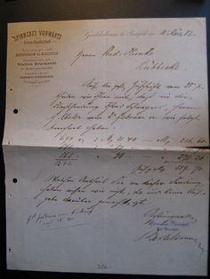 1882...Antique Account Spinnerei Vorwärts Gadderaum bei Bielefeld...