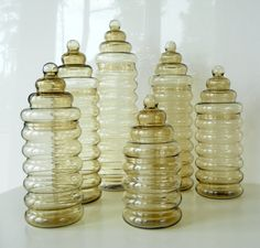 Vintage Holmegaard Primula jars