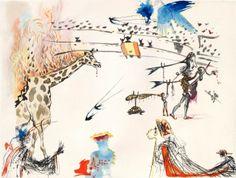 Salvador Dalí - Flaming Giraffe, 1966/67
