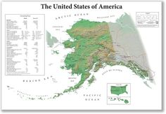 """just–maps: """" The United States of America From Alaska's Point of View [1175x812] """""""