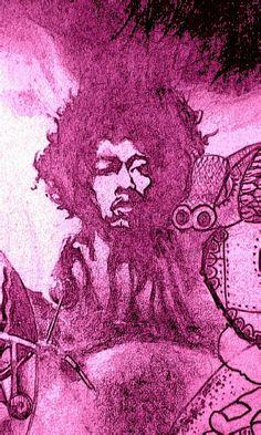 """Jimi  1971  11"""" x 9"""""""