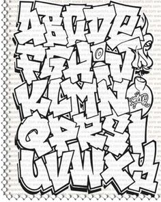 Graffiti lettering looks really interesting, the way that each of the lines are jagged however the letters are still easy to understand.