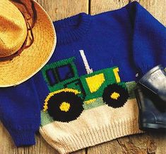 Details about Tractor Farm Sweater Baby Children Knitting Pattern Aran Wool 22 -. : Details about Tractor Farm Sweater Baby Children Knitting Pattern Aran Wool 22 free knitting patterns for children sweaters Baby Knitting Patterns, Jumper Knitting Pattern, Knitting For Kids, Baby Patterns, Vintage Patterns, Free Knitting, Knitting Sweaters, Pdf Patterns, Baby Girl Sweaters