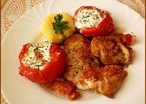 Rajčátková pětiminutovka z mikrovlnky Baked Potato, Potatoes, Chicken, Meat, Baking, Ethnic Recipes, Food, Bakken, Eten
