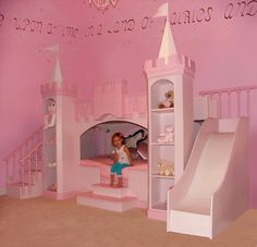 toddler bedroom ideas for girls | Girls Bedroom Ideas with Palace Bed Kids Bedroom Decorating Ideas with ...