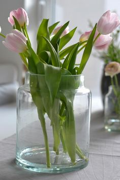 Frühling, Tulpen, Glasvase, #tinekhome, #marthas