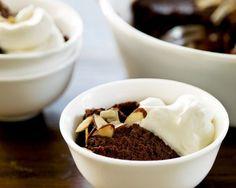 Chocolate Panna Cotta with Amaretto Whipped Cream by Giada De Laurentiis | GiadaWeekly.com