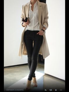 Good casual outfit. Love the coat.