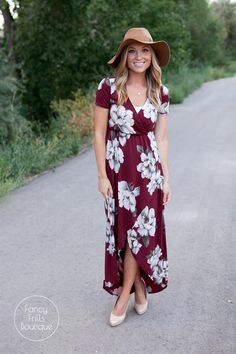 Flirty + Flattering... That's a winning combination and this floral wrap dress…